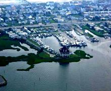 Anchorage Marina Altantic Beach North Carolina Boat Slips    www.carolinawaterfrontonline.com