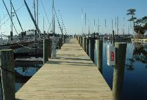 Whittaker Creek Yacht Harbor Deep Water Boat Slip Oriental North Carolina